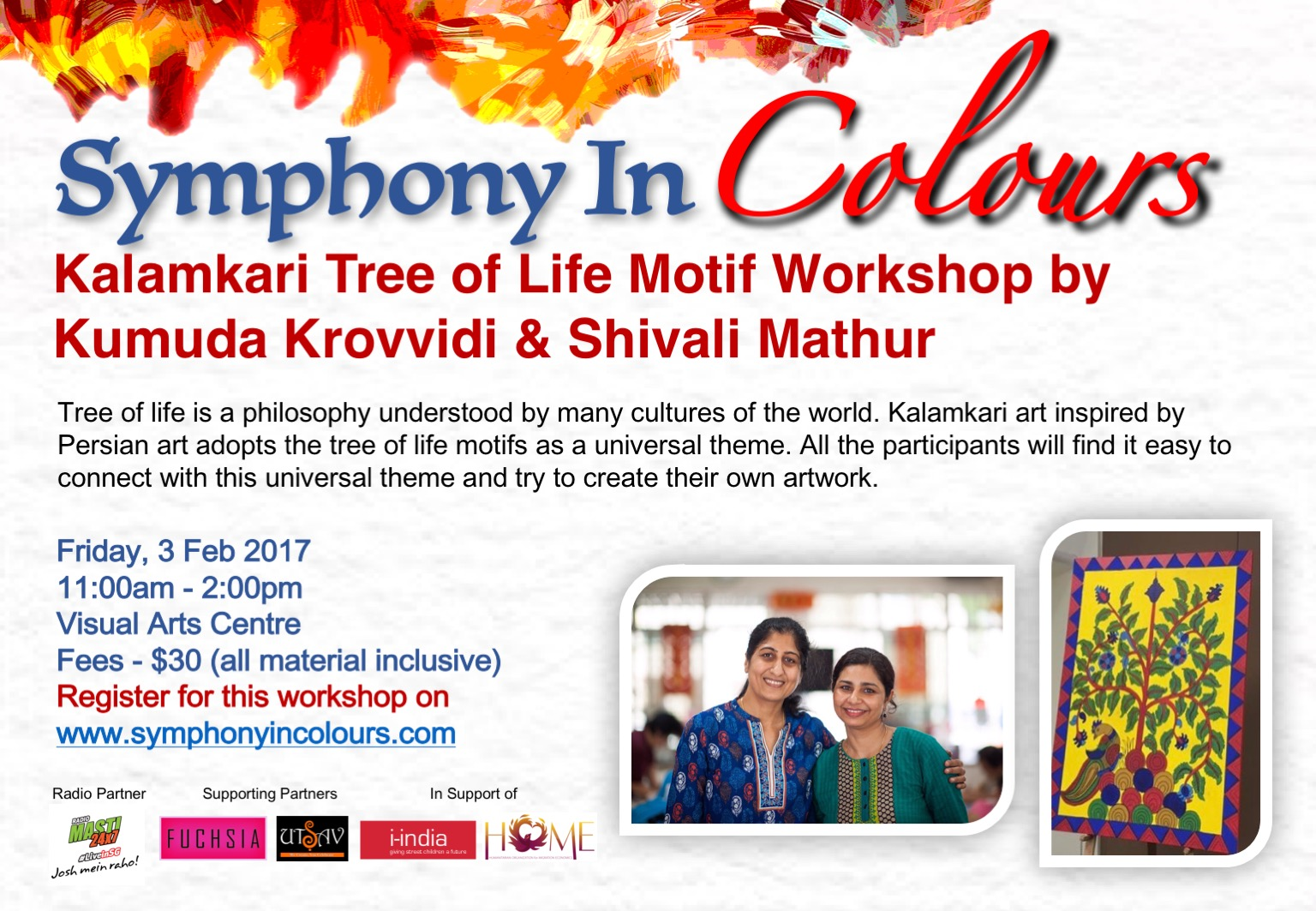 Symphony in colours - Workshop poster 1