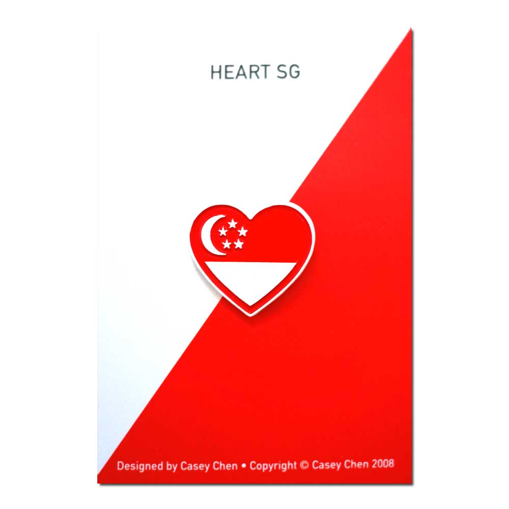 Casey Chen - Singapore Heart Pin